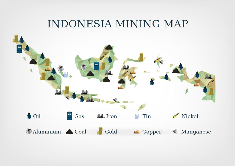 Indonesia Mining Map