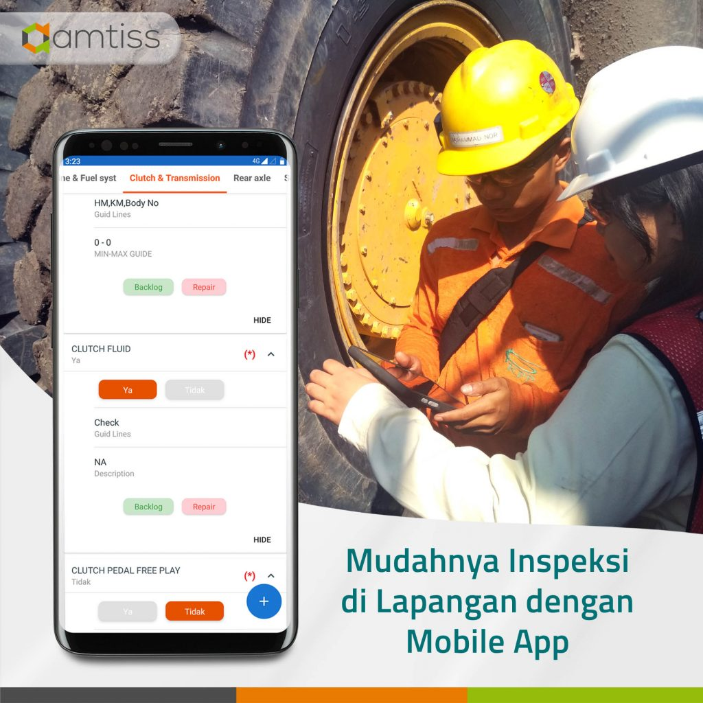 Daily Inspection yang efisien untuk mencegah Machine Failure menggunakan mobile app