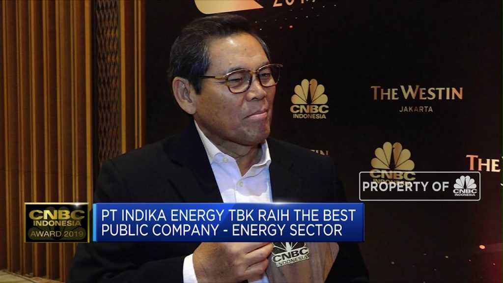 Indika Energy sebagai The Best Public Company Energy Sector CNBC Indonesia Awards 2019